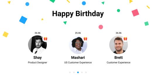 Incrustar actualizaciones: cumpleaños, eventos