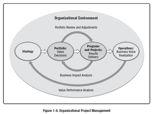 Screenshot from the 6th edition PMBOK guide illustrating the purpose of OPM.