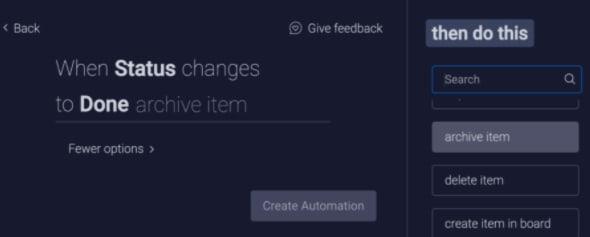 status changes automation