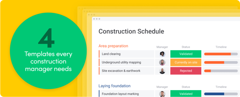 4 templates every construction manager needs