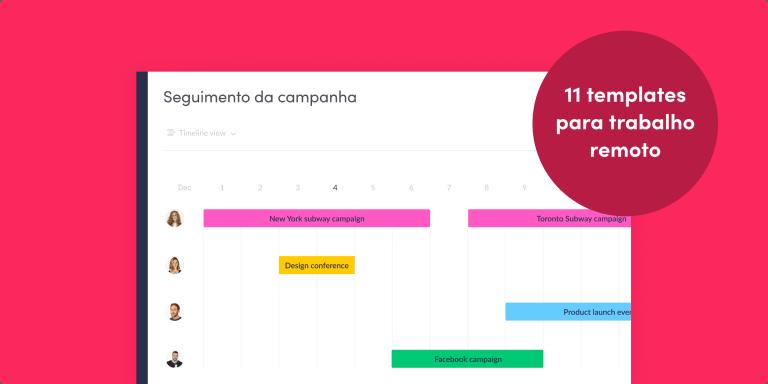 11 templates de trabalho remoto para ajudar a sua equipe