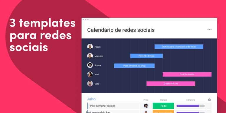 3 templates de redes sociais para gerenciar seu conteúdo e obter melhores resultados