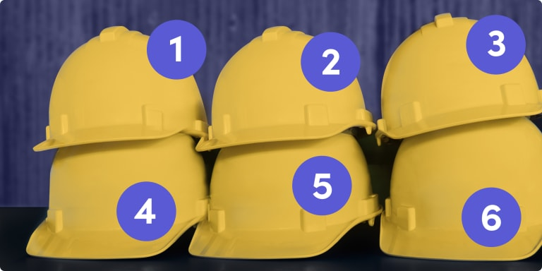 The 6 steps of the construction process