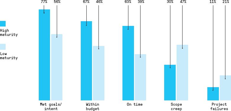 Organization maturity bar graph
