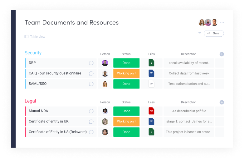 Team Documents and Resources