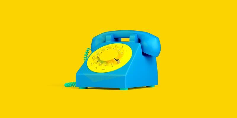 skype alternatives blue and yellow phone