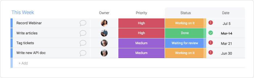 Column types are the most efficient way to customize and organize your workflow in monday.com