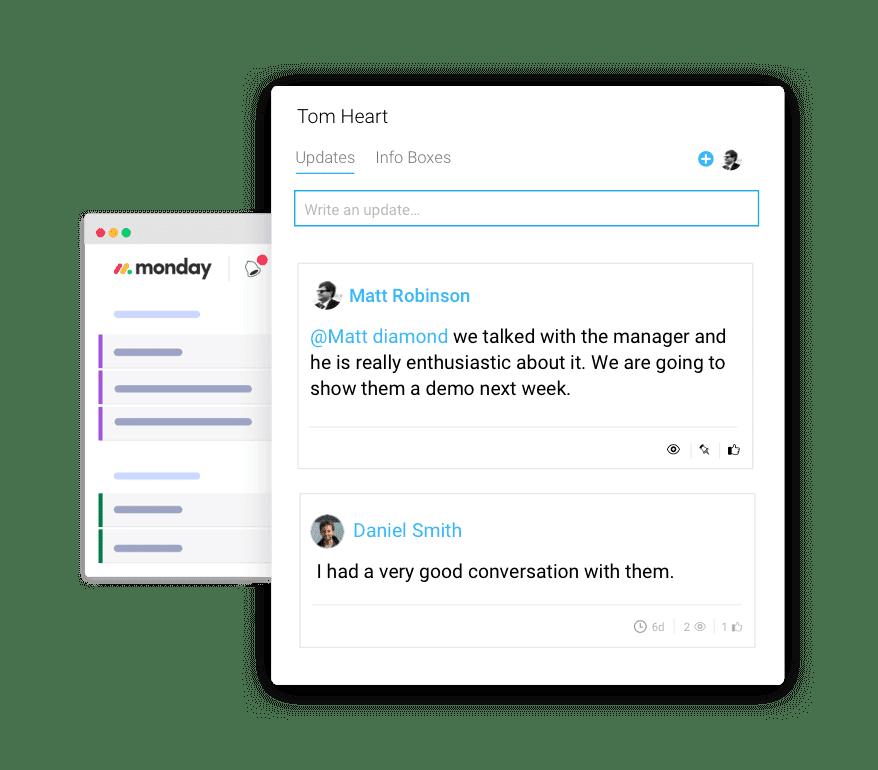monday.com's sales CRM platform