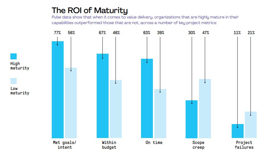 Project management maturity ROI graph