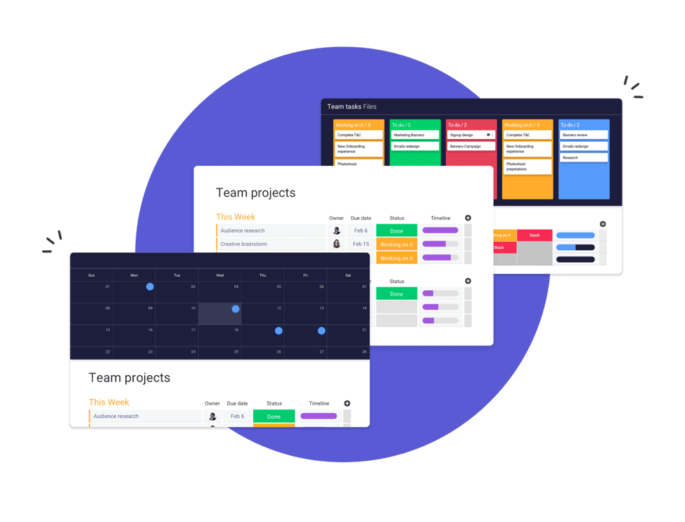sistema operativo de trabajo (Work OS) monday.com