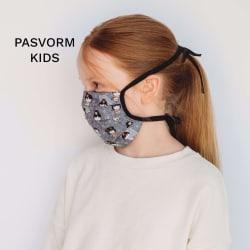 Mondmasker Kids pasvorm zijkant