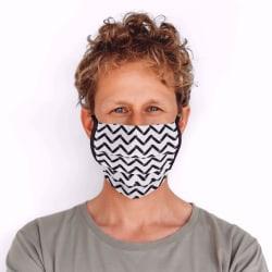 Mondmasker Chevron stripes met linten