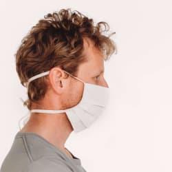Mondmasker Wit met Linten voor Volwassenen