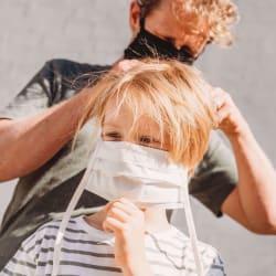 Mondmasker Wit met Linten voor Kinderen
