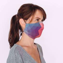 Mondmasker Cup Kids Color block met elastiek en stopper voor kinderen