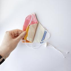 Mondmasker Duo Kids Wit met elastiek en stopper