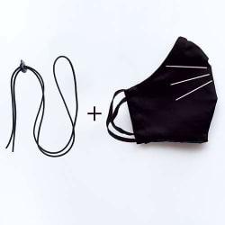 Zakje Black Rectangles + Duo Miauw