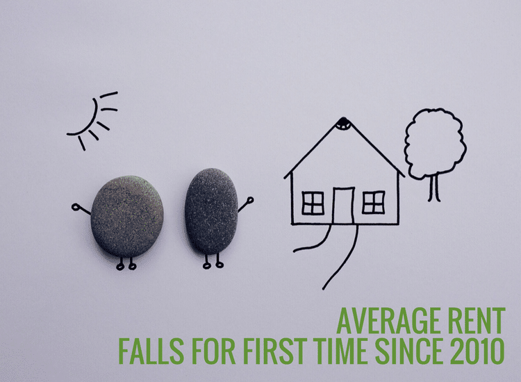 Average rent falls for first time since 2010
