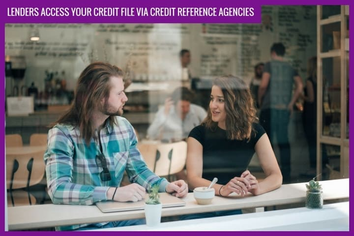 Lenders access your credit file via credit reference agencies