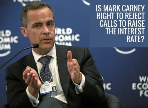 Mark Carney rejects call to raise interest rates