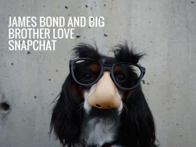James Bond and Big Brother Love Snapchat