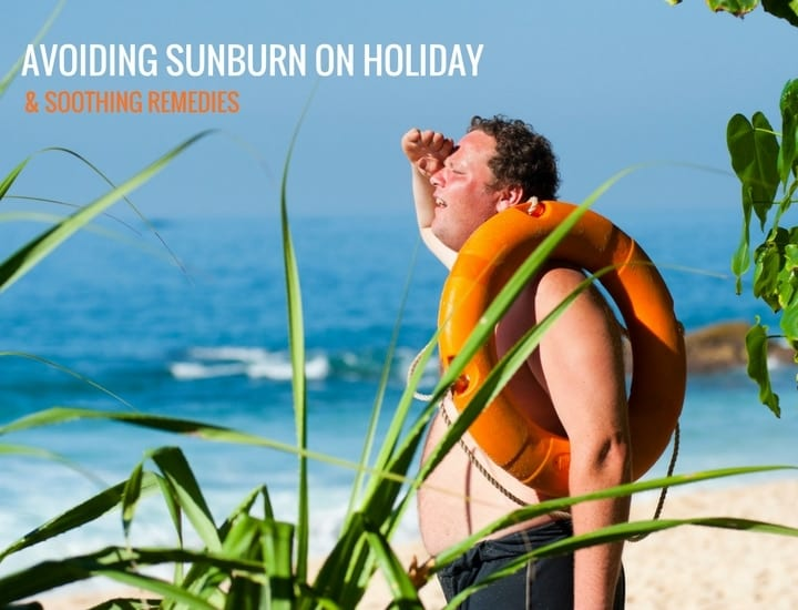 avoiding sunburn on holiday