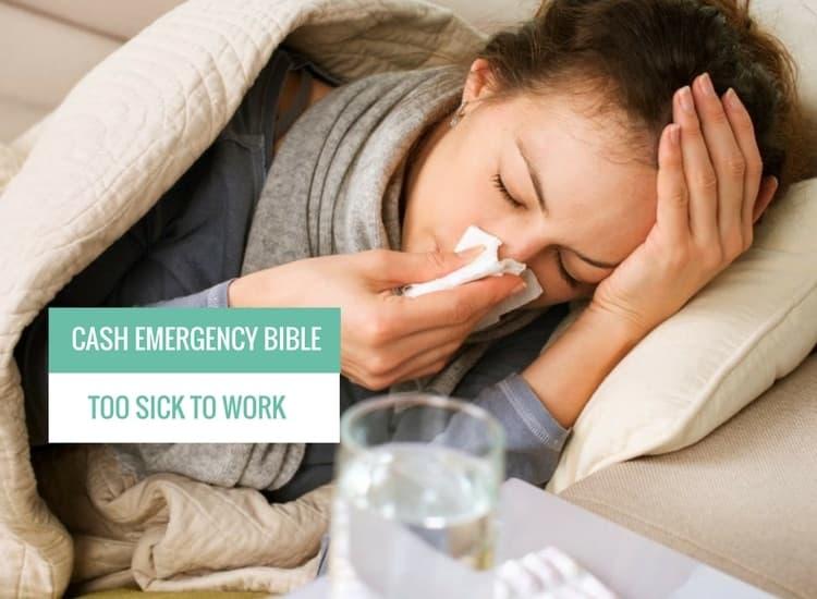 woman is in bed feeling sick