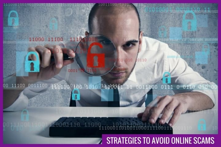 Strategies to avoid online scams