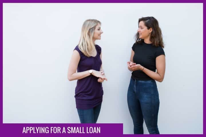 Applying for a small loan