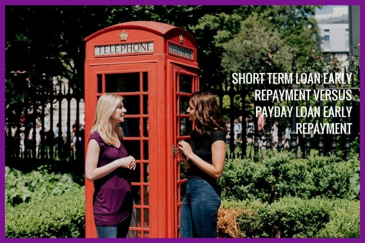 Short term loan early repayment versus payday loan early repayment