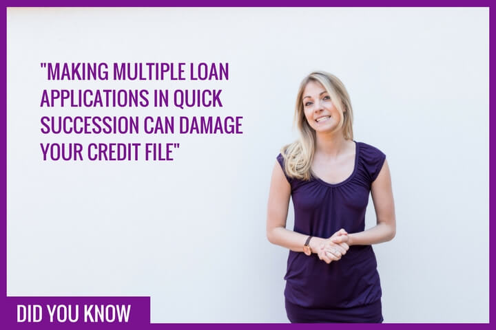 Multiple loan applications can damage your credit file