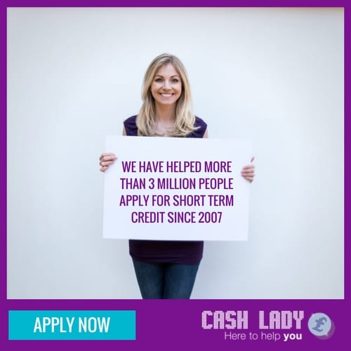 CashLady have helped 3 million people apply for payday loans since 2007