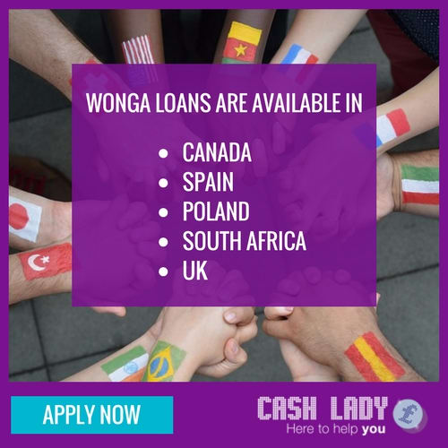 Wonga are available in various countries