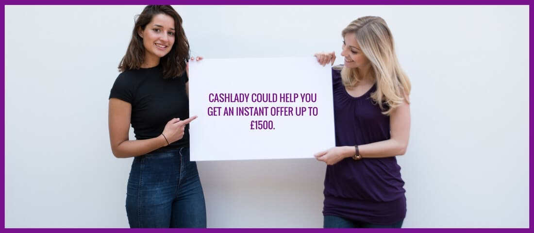 Cashlady instant offer for £1500