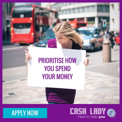 Prioritise how you spend your money