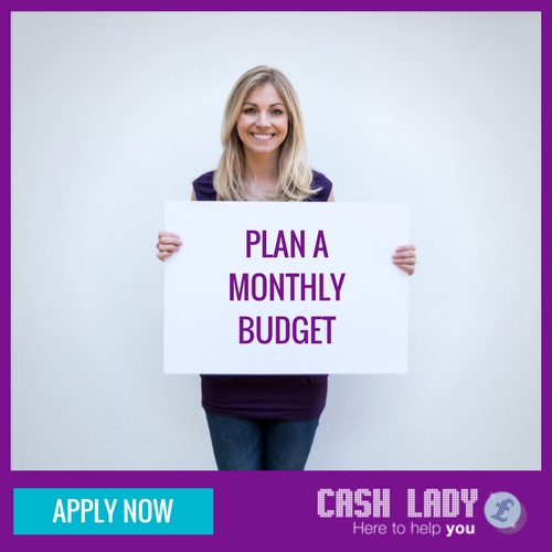 Plan a monthly budget
