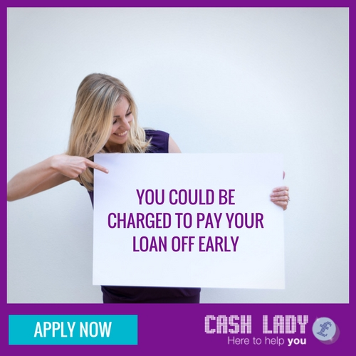 You could be charged to pay your loan off early