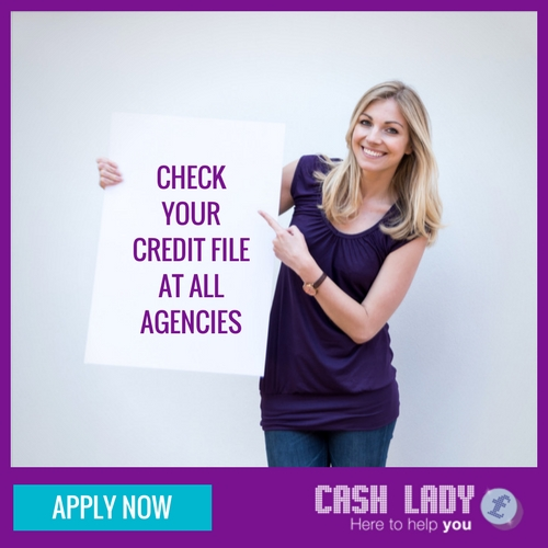 Check your credit file at all agencies
