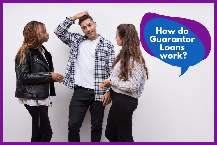 Group of young people discussing the ways to find a guarantor for your loan