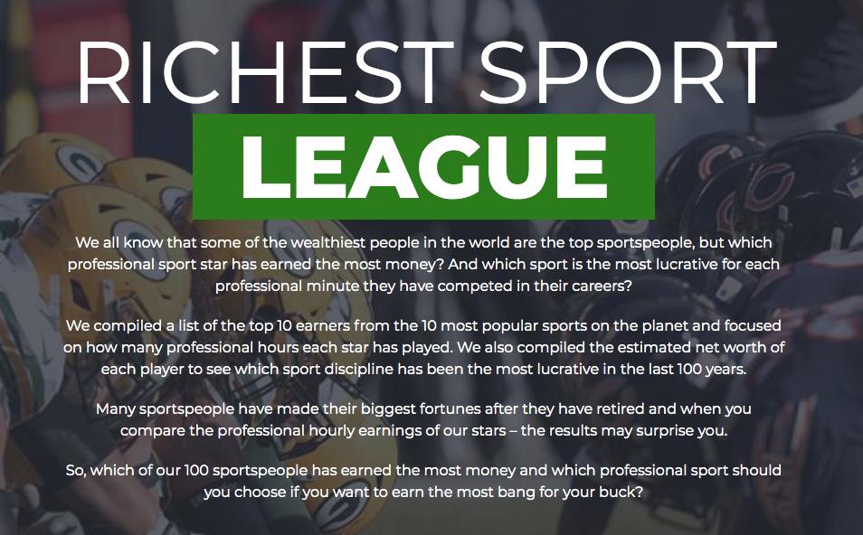 Richest Sports League