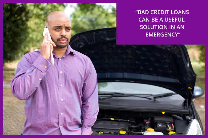Bad credit loans are often useful for financial emergencies like a car breakdown.