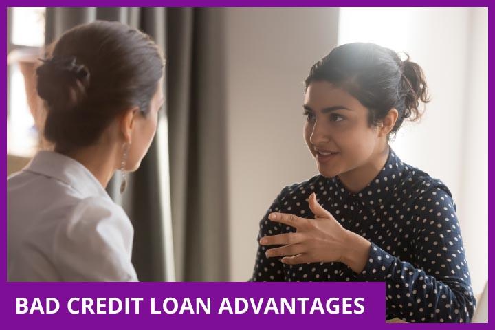 CashLady showing advantages of bad credit short term loans