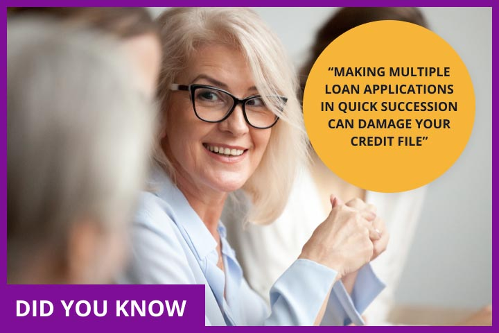 CashLady explaining how multiple loan applications can damage your credit file