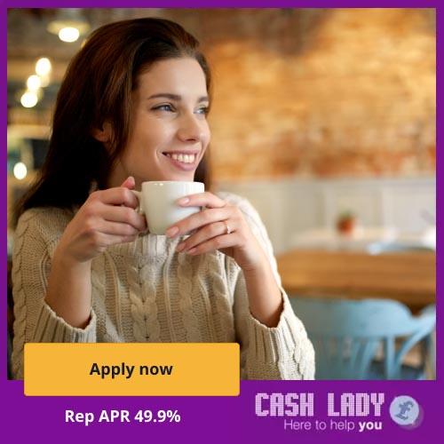 CashLady sitting in a coffee shop