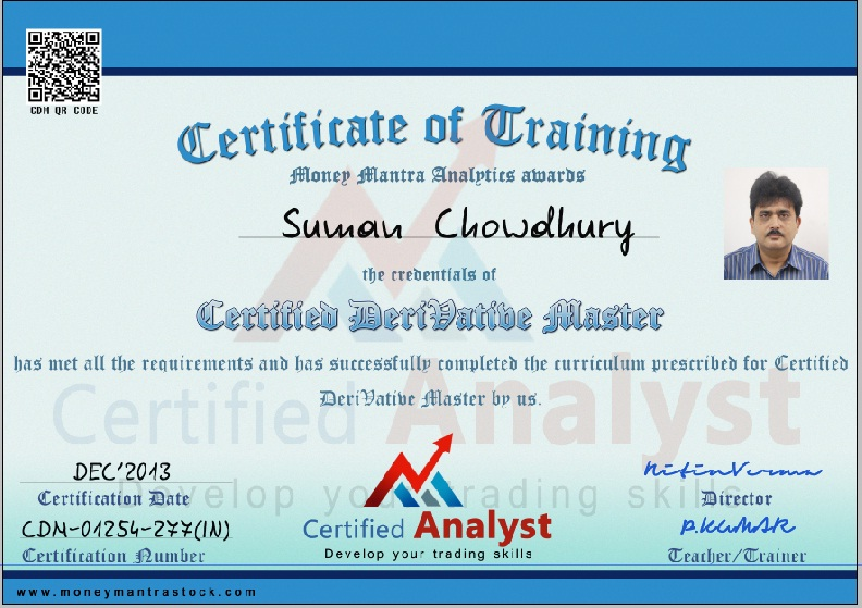 Options trading certificate