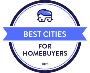 MoneyGeek Best Cities for Homebuyers Badge