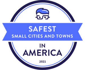 Safest Small Cities and Towns in America 2021 Badge