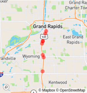 Grand Rapids: US-131 Between Wealthy Street SE and 44th Street SW in Wyoming