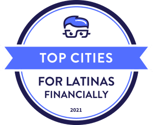 Top Cities For Latinas badge