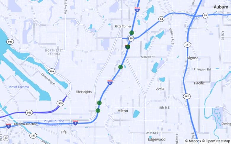 Federal Way-Milton: I-5